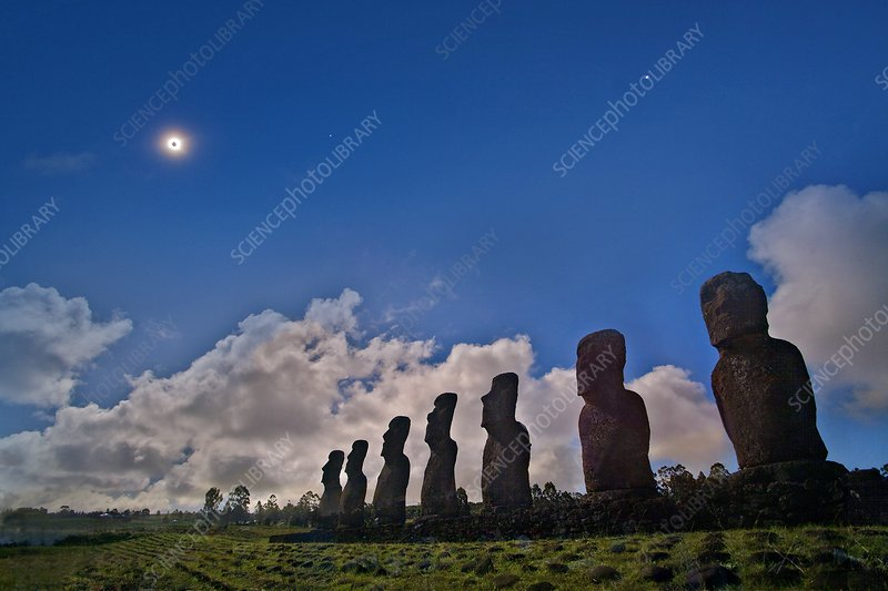 Total solar eclipse, Easter Island, 2010