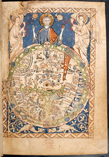 Psalter world mappa mundi, c.1260