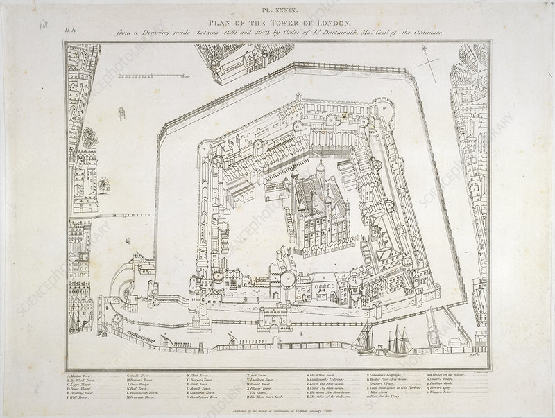 Plan of the Tower of London