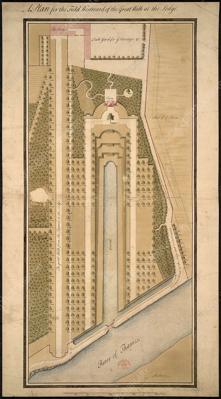Plan of grounds at Richmond Lodge