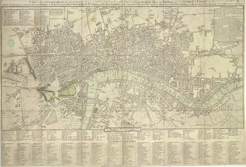Pocket plan of London