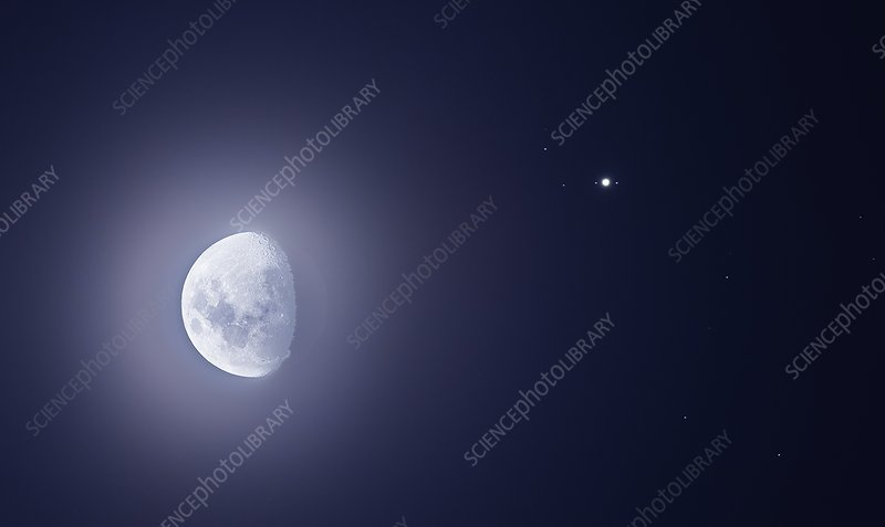 Moon and Jupiter