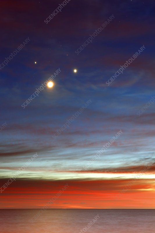 Moon with Jupiter and Venus