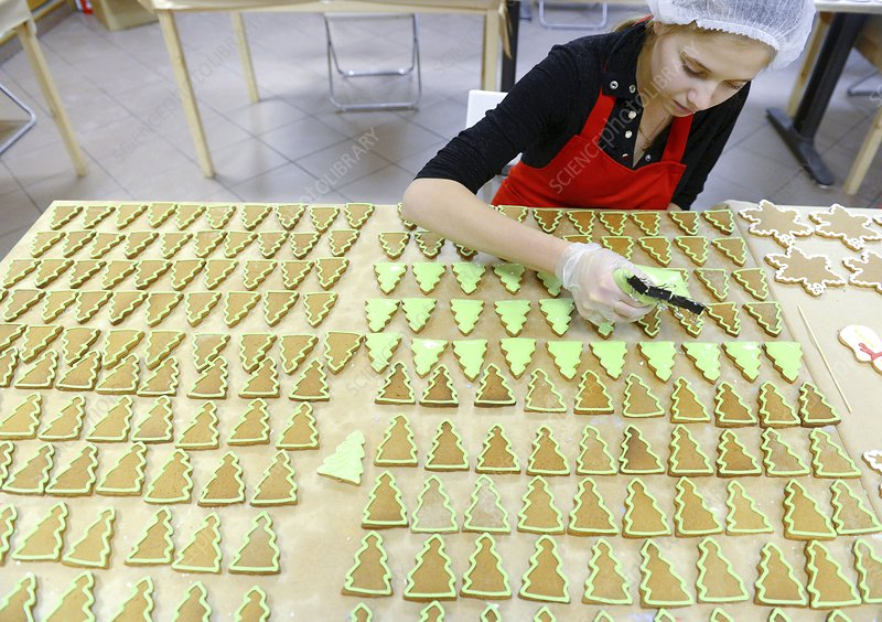 Icing gingerbread Xmas decorations