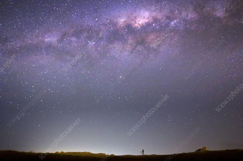 Milky Way and astronomer