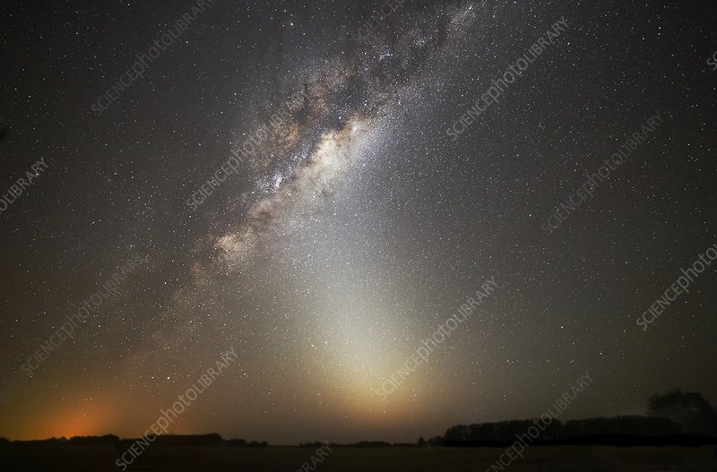 Milky Way and zodiacal light
