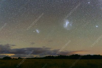 Magellanic Clouds over the pampas
