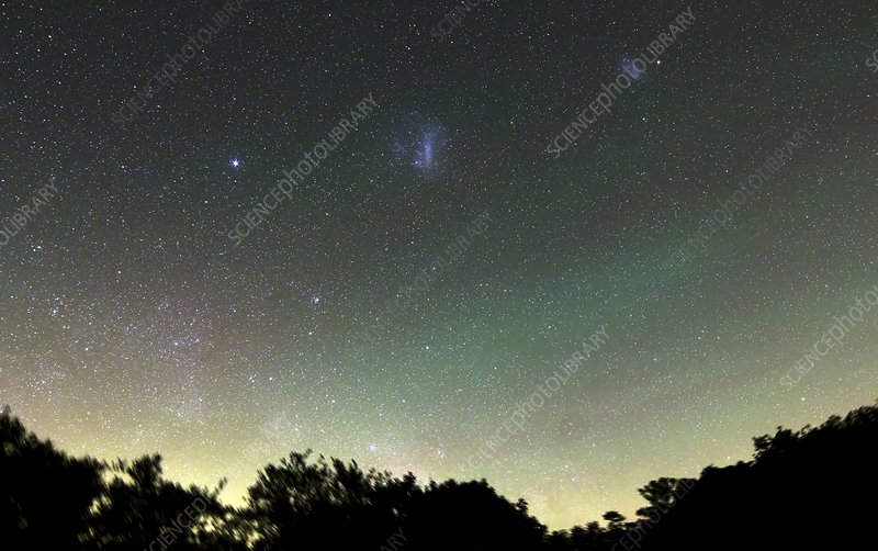 Airglow and Magellanic Clouds