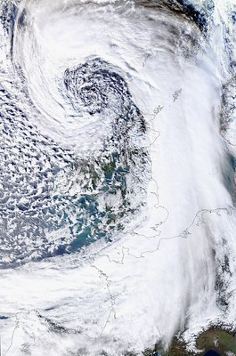 Low pressure over the UK, January 2014