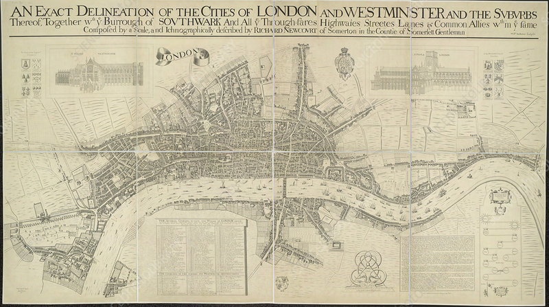 Cities of London and Westminster, a map