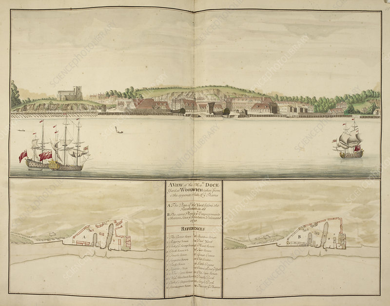 Illustration of Woolwich dockyard