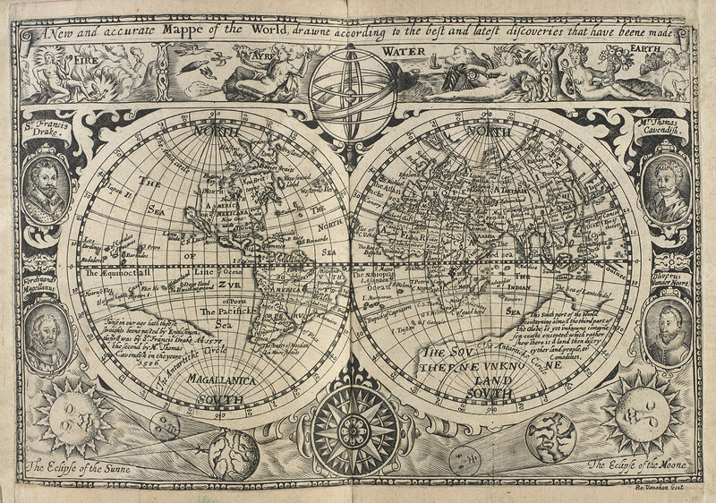 Mappe of the World, drawn in 1628