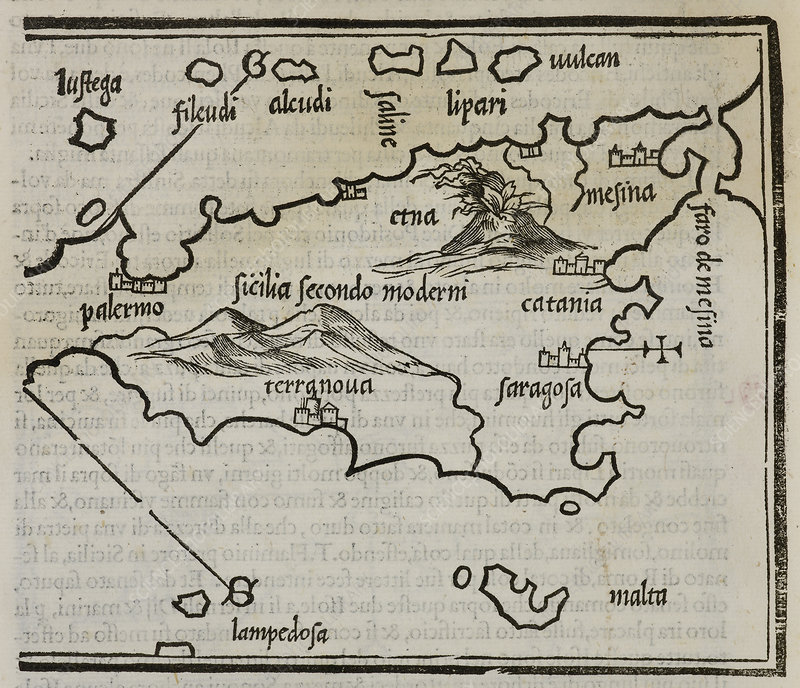 Map of Sicily and the islands