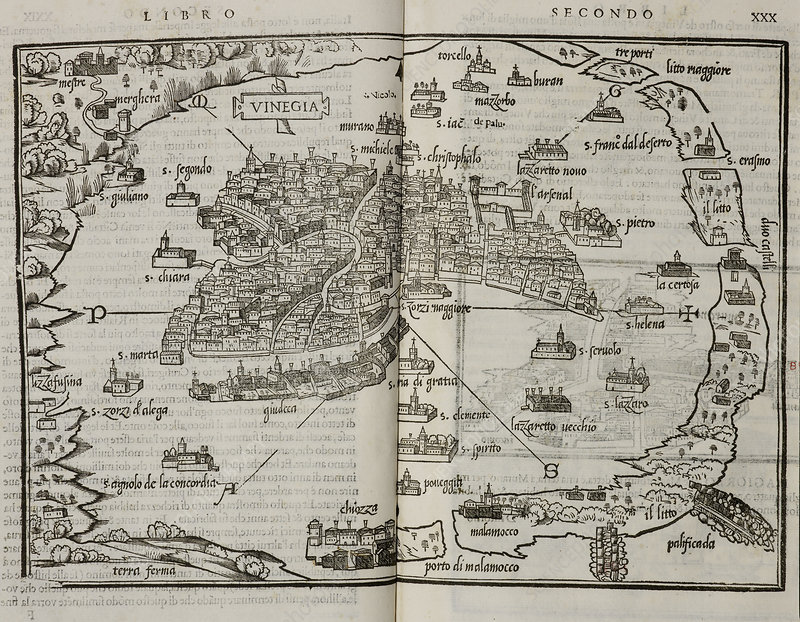 Map of the city state of Venice, 1565