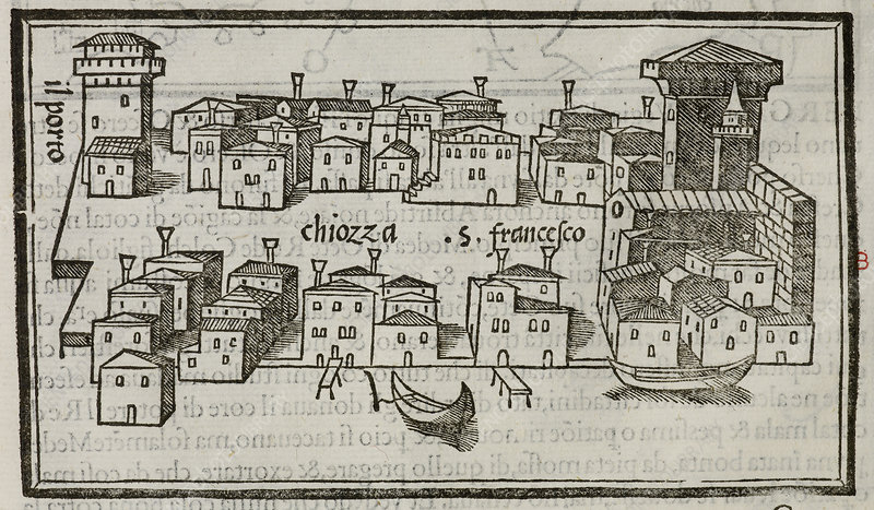 Illustration of the city of Chiozza