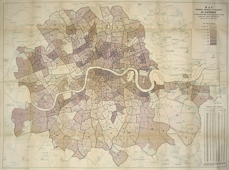 Poverty levels in London, 1891