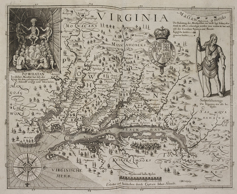 A map of Virginia