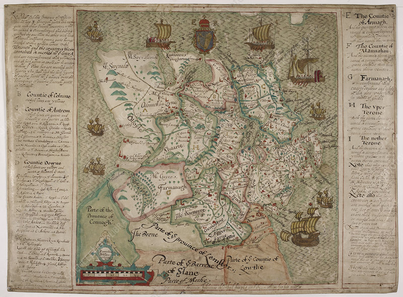 A map of Ulster, 1598