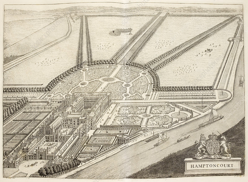 A ground plan of Hampton Court