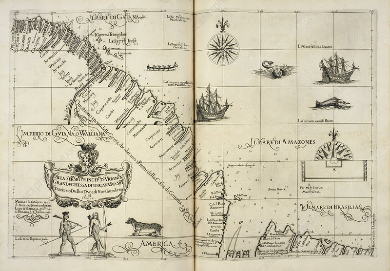 Map of Il Mari di Amazones, 1646