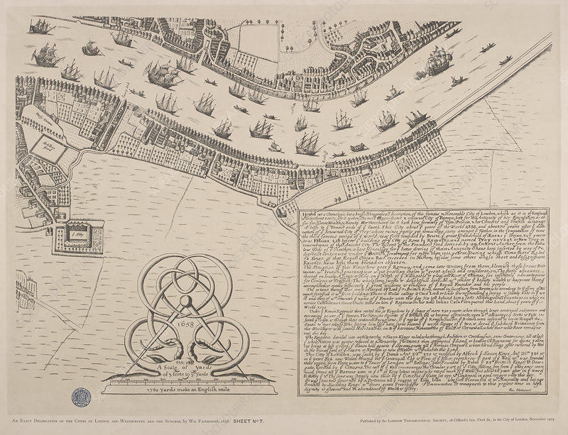 Map of the river Thames circa 1560-70