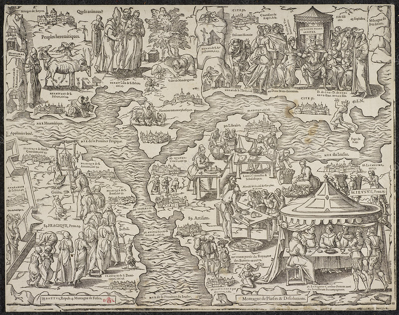 Allegorical map