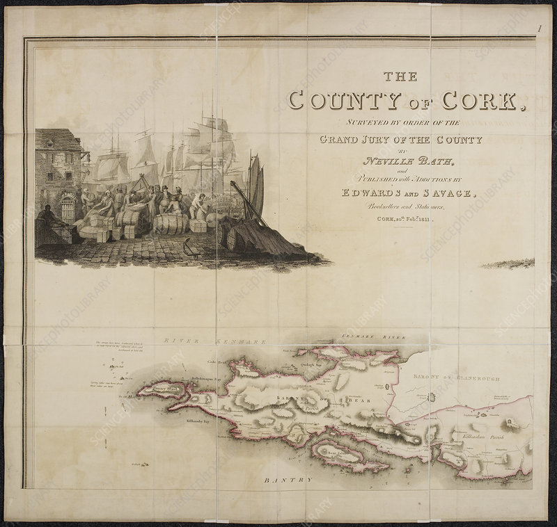 A map of the county of Cork