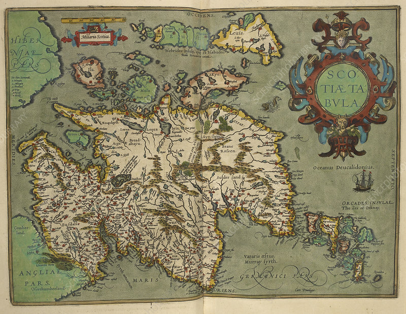 Map of Scotland drawn in 1601