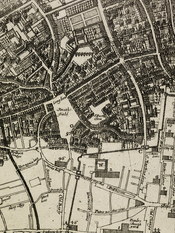 Map of Smith Fields, Ludgate, London