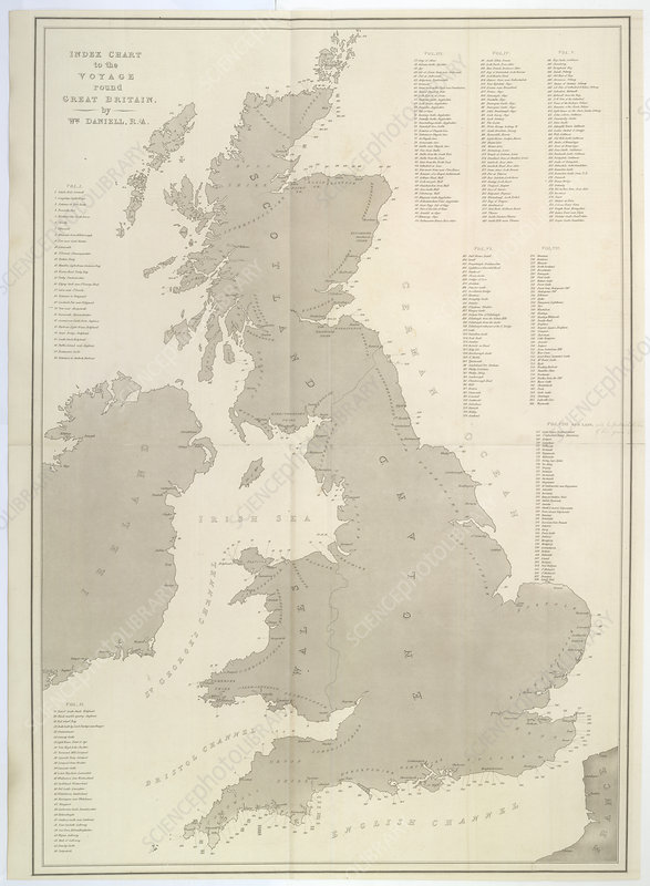 A map of the islands of Great Britain