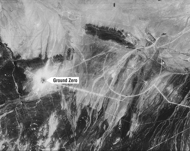 First Chinese nuclear test, Corona image