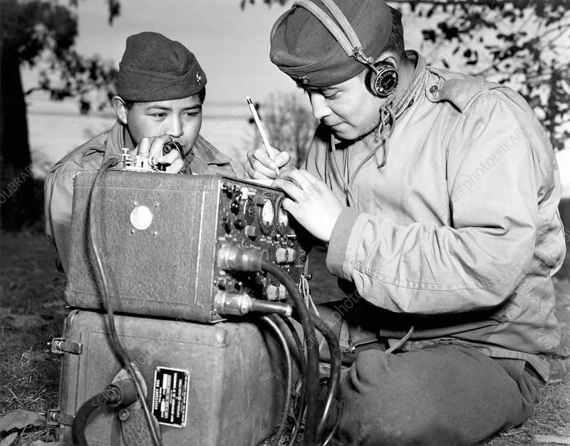 Navajo code talkers, World War II