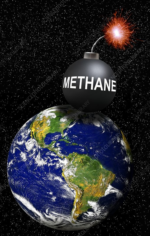 Methane bomb, conceptual artwork