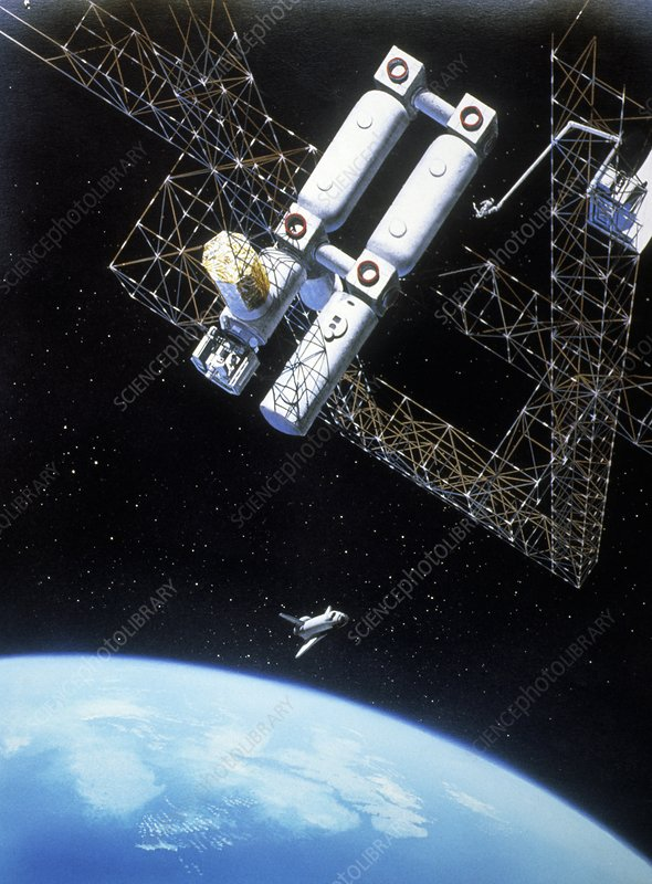 Freedom space station, artwork