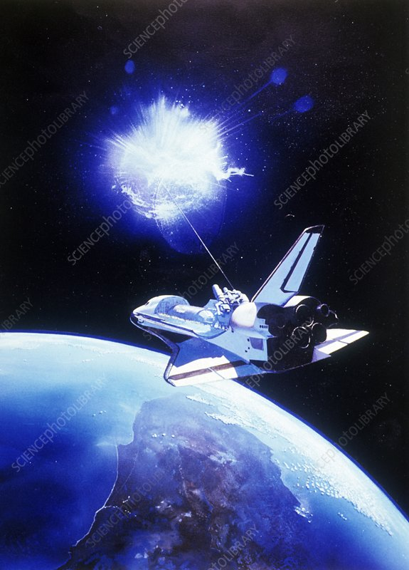 Space defence system, artwork