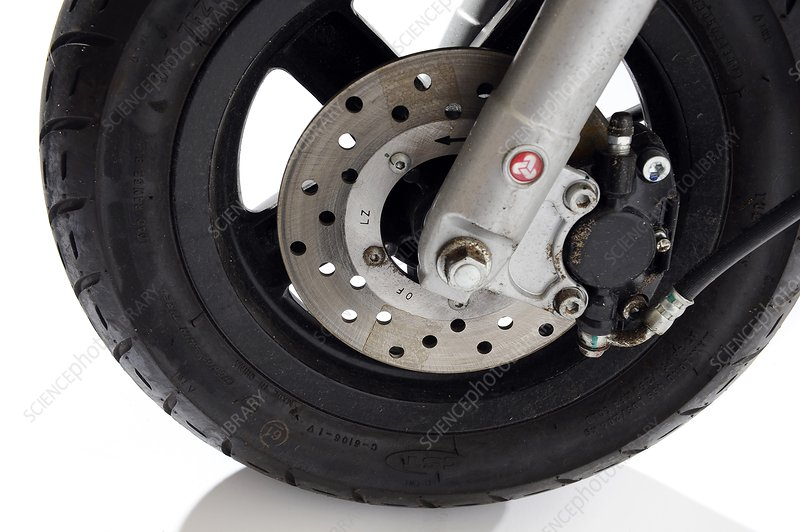 Scooter wheel and brake pad