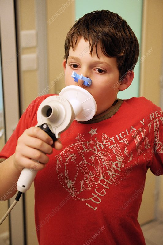 Childhood asthma respiration tests