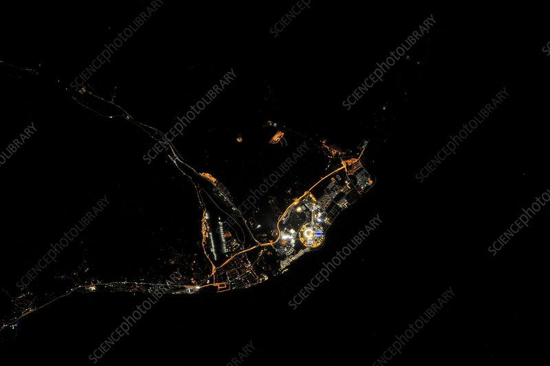 Sochi Olympic Park at night from space