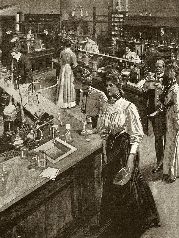 Chemical research laboratory, Leeds, 1908