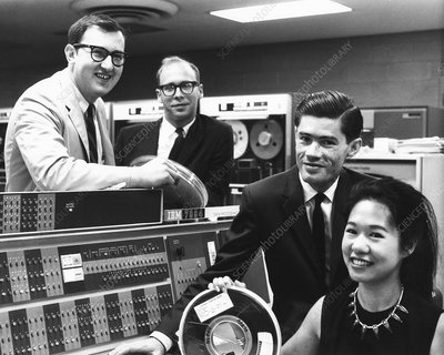 Particle physics and IBM computer, 1966