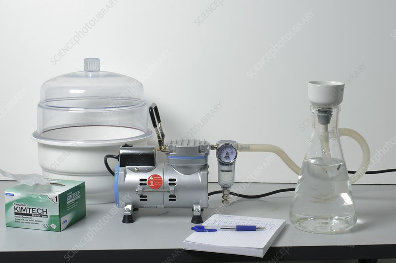 pump and Vacuum Desiccator