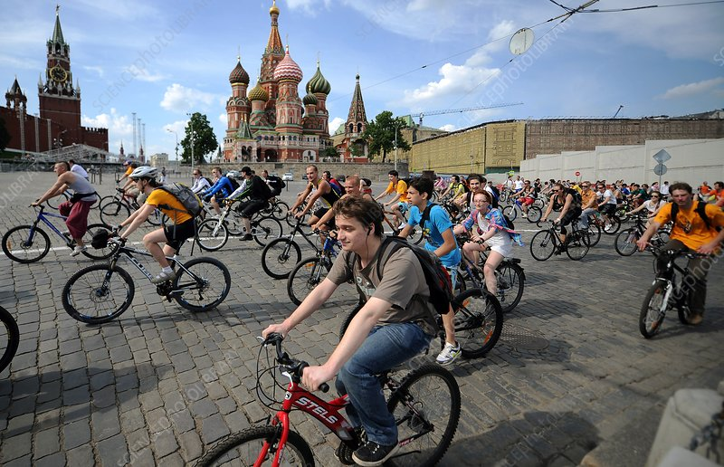 Bicycle parade, Moscow