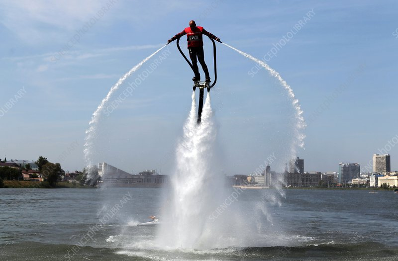Hydro-powered jet pack