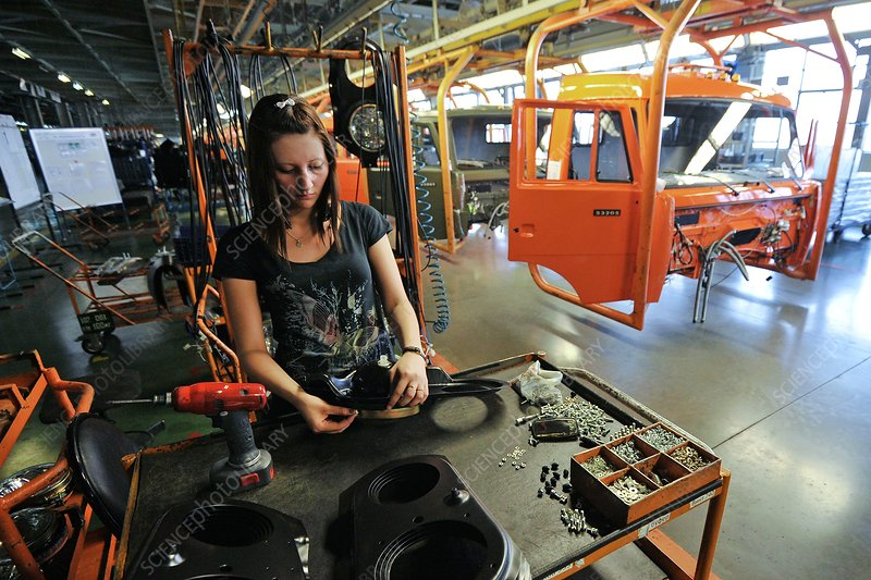 Truck assembly production line