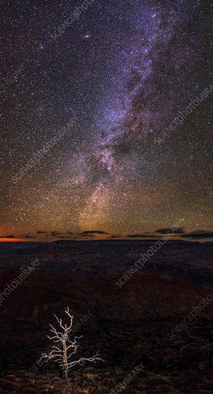 Milky Way above the Grand Canyon