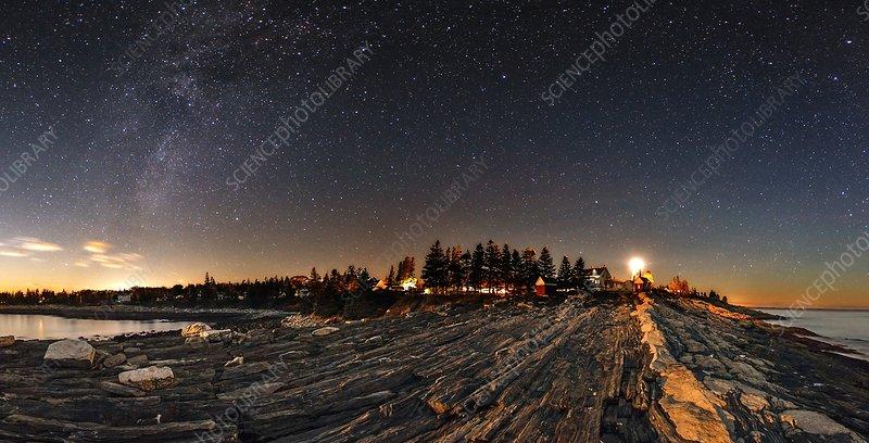 Milky Way over an Atlantic coastline