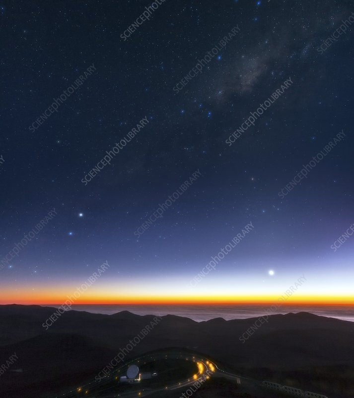 Milky Way over Cerro Paranal Observatory