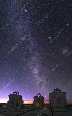 Milky Way over VLT telescopes