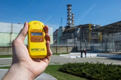 Measuring radiation levels, Chernobyl