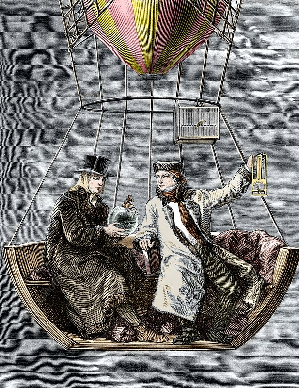 Gay-Lussac and Biot balloon ascent, 1804
